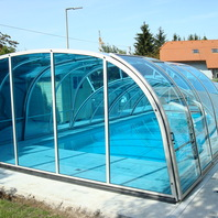 Pool Coverage with blue glazing